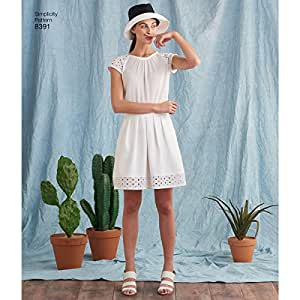 SIMPLICITY 8391 MISSES' TOP, SKIRT, PANTS, SHORTS (SIZE 6-14) SEWING PATTERN