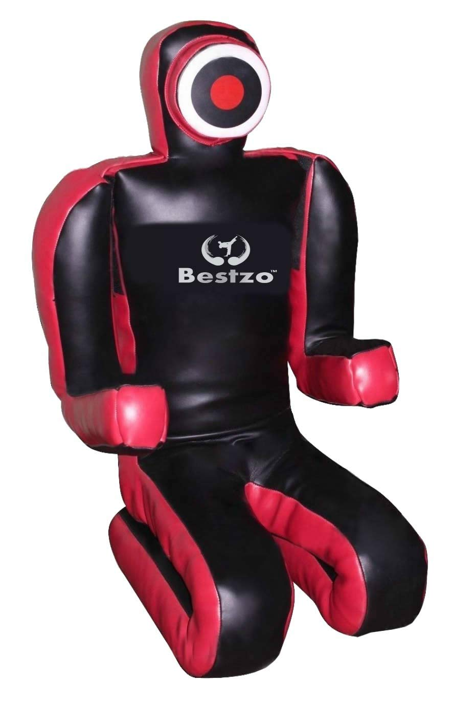 bestzo MMA Martial ArtsブラジルGrapplingダミーレッド/ブラックSitting Position – Unfilled Canvas 赤/黒 48 inches (4 ft)