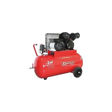 Ribitech – Compresor 100 litros 8 bar 3 CV – prcomp3/100 V