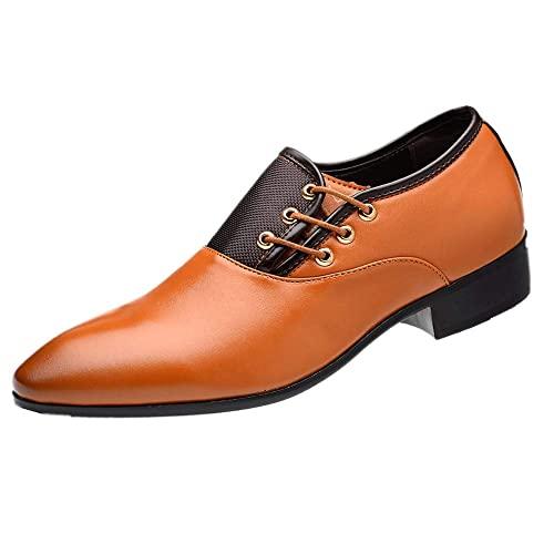 Boda Hombre Derby Cuero Zapatos Calzado Vestir Oxford Cordones Sqw80