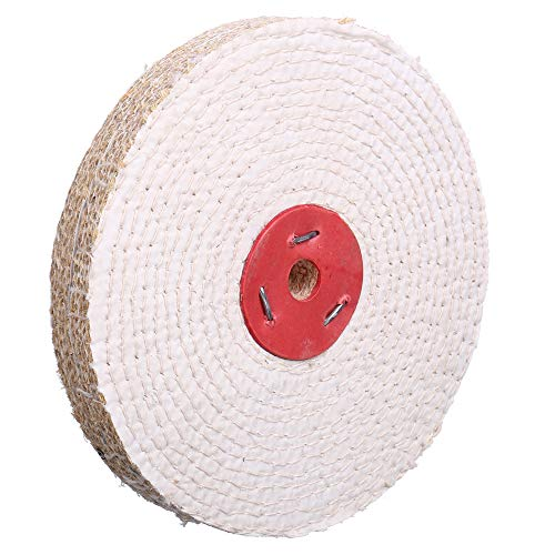 Extra Thick (1 inch) Spiral Sewn Sisal Buffing Polishing Wheel 8 inch For Bench grinder With 5/8 inch Arbor Hole 1 inch thick 1 PACK