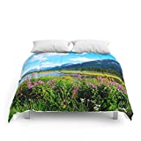 Society6 God's Country - Summer In Alaska Comforters Full: 79'' x 79''