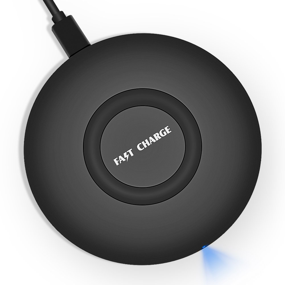 10W Qi Wireless Charging Pad iPhone X Wireless Charger, RISETECH Fast Wireless Charger for Android Samsung Note 9 8 Galaxy S9 S8 Plus S7 Edge and 5W Standard Charge for Apple iPhone x 8 8 Plus