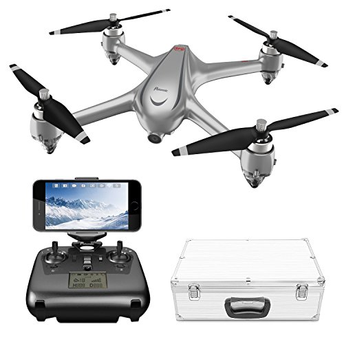 Potensic GPS FPV RC Drone, D80 with 1080P Camera Live Video and GPS Return Home, Strong Brushless Motors, 25 mph High Speed 5.0GHz Wi-Fi Gyro Quadcopter with Compact Suitcase