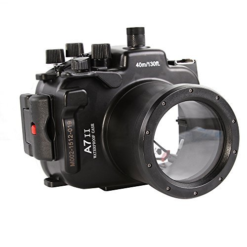 (Fotga 40M Waterproof Underwater Camera Housing Case for Sony A7II A7RII 28-70mm DSLR Cameras)
