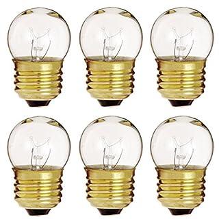 6 Pack of 7.5-Watt S11 Sign Indicator 7.5S11 Medium (E26) Base Clear Incandescent Light Bulb
