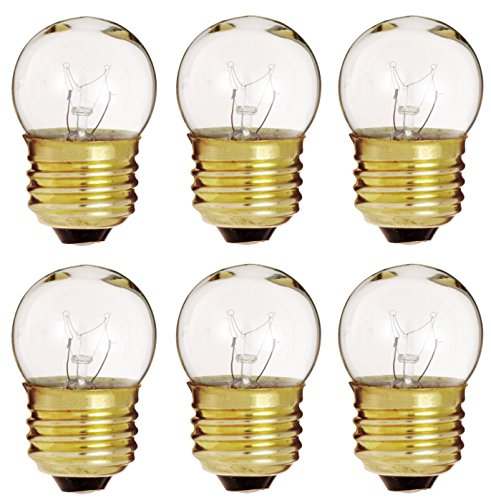 6 Pack Of 7.5-Watt S11 Sign Indicator 7.5S11 Medium (E26) Base Incandescent Light Bulb (Bulb Indicator Incandescent Clear Light)