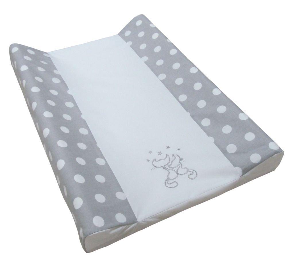 Babymajawelt® Colchón cambiador para bebé - 2 cuñas CATS/gatos + 50 x 70 cm funda de algodon (rosa)