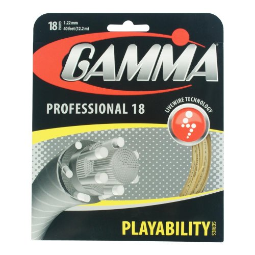 Gamma Live Wire Professional 18G Tennis String, - Natural Tennis