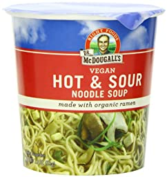 Dr. McDougall\'s Right Foods Vegan Hot & Sour Ramen, 1.9-Ounce Cups (Pack of 6)