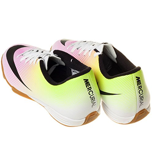 Nike Mercurial Vortex II IC Mens Indoor Competition Football Trainers 651648 Soccer Shoes White-green-pink CzqQ2ng