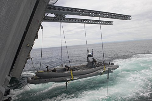 Home Comforts A Rigid-Hull Inflatable Boat is hoisted onto The Littoral Combat Ship USS Coronado (LCS 4) Following