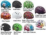 Bell Fraction Youth Bicycle Helmet, Matte Black/White Paul Frank Skull, Small