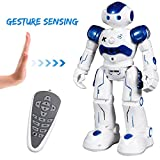SGILE Remote Control RC Robot Toys Interactive Walking Singing Dancing Smart Robotics for Kids Boys Girls Programmable Gesture Sensing Robot Kit Blue
