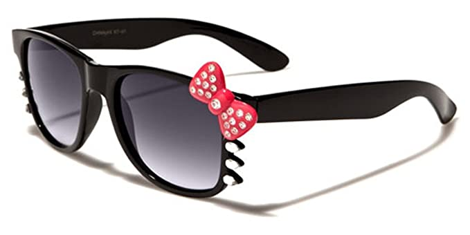 7ff369014 Image Unavailable. Image not available for. Color: Hello Kitty Bow Women's  Rhinestone Fashion Glasses with Bow and Whiskers