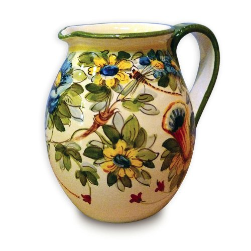 Toscana Hand Painted Fiore Pitcher From Italy