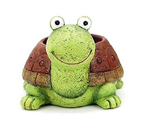 Pot Turtle (Youfui Home Decor Pot, Animal Succulent Planter Flowerpot Home Office Desk Decoration (Green Turtle))