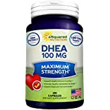 Rein DHEA (100mg Max Strength, 200 Capsules) to Promote Balanced Hormone Levels for Women & Men - Natural DHEA Supplement Pills to Support Healthy Metabolism, Libio, Brain, Immune Function & Energy