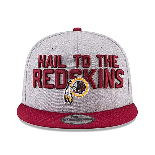 Official Draft Cap (Washington Redskins 2018 NFL Draft Official On-Stage 59FIFTY Fitted Hat - Heather Grey Size: 7)