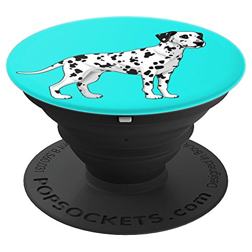 (Dalmatian Dog on Light Blue - PopSockets Grip and Stand for Phones and)