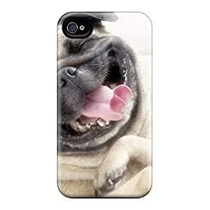 S.N.H Iphone 4/4s Well-designed Hard Case Cover Dogs Smiling Funny Protector