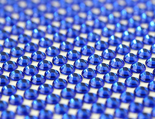 CraftbuddyUS 1500 X 5mm Royal Blue Bulk Self Adh Rhinestones,stick on Gems,craft Vajazzale Wedding (Adhesive Strips Rhinestone)