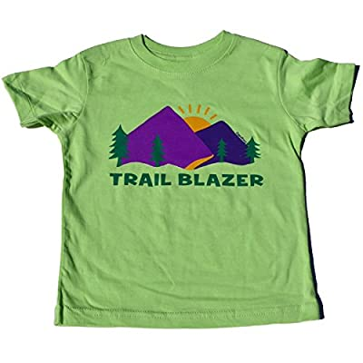 "ZippyRooz Boys Toddler & Little Kids Hiking Camping Tee Shirt ""Trail Blazer"""