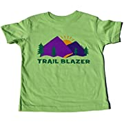 ZippyRooz Toddler & Kids Hiking Camping Tee Shirt  Trail Blazer  for Youth Boys (2T)
