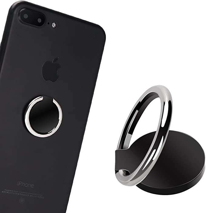Phone Ring Stand 360/° Rotation Finger Kickstand 120/° Flip Phone Ring Holder for All Phones