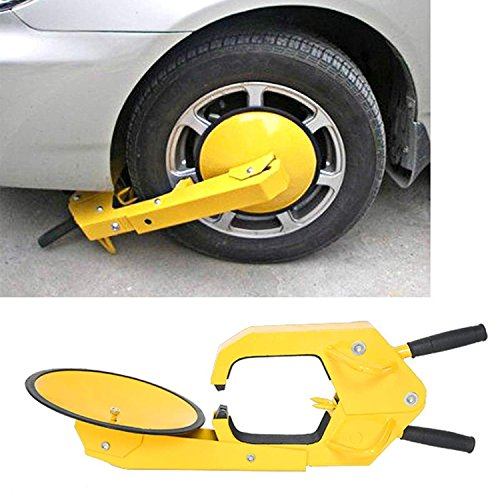 Mophorn Heavy Duty Car Wheel Lock Ultra-Max Adjustable Tire Locking Chock Anti-Theft Wheel Lock Boot Trailer Wheel Lock Tire Lock Clamp Boot Tire (Ultra max)