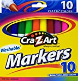 Cra-Z-Art 10002 Classic Colors Washable Markers 10 Count