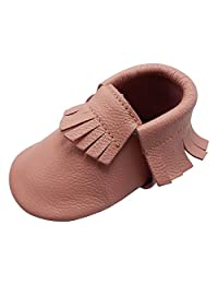 YIHAKIDS Baby Tassel Shoes Soft Leather Sole Infant Toddler Moccasins First-walking Shoes Multi-colors