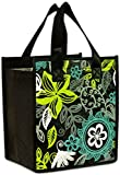 Island Impressions Tote Bag Insulated Tropical Sun Black, Green Small