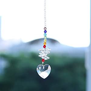 Duosuny Colorful Jewelry Crystals Pendants &Chandelier Suncatchers Prisms Hanging Ornament Octogon Chakra Crystal Pendants for Home,Office,Garden Decoration