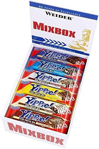 [Gesponsert]Weider Yippie! Proteinriegel 45 g Mix Box 12 leckere Eiweißriegel, low-carb