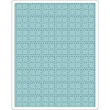 Sizzix Tim Holtz Alterations Collection Christmas Texture Fades Embossing Folder Stitched Plaid (12 Pack)