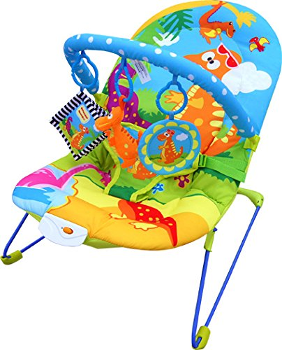 Bebe Style Dino World Baby Recline Bouncer with Vibrate & Music BNCR-DI8013