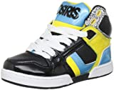 Osiris NYC 83 Skate Shoe (Little Kid/Big Kid),Black/Cyan/Yellow,4 M US Big Kid