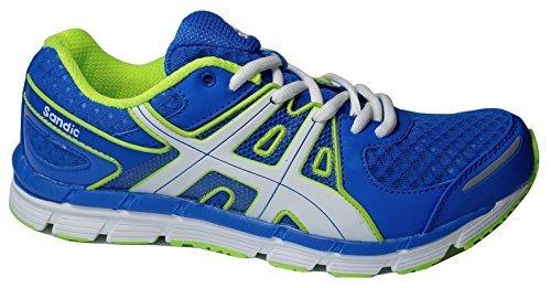 Gibra, zapatillas deportivas para hombre Azul - Bleu - Blu / Verde Neon