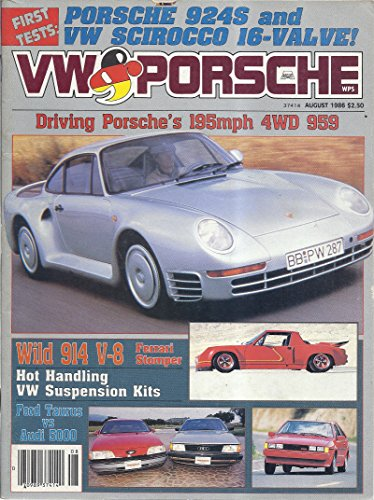 VW & Porsche Magazine (August 1986 - Cover: Porsche 959)