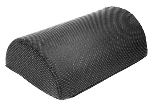 Foot Rest Cushion, Half Cylinder Design, for Home and Office (Large 17.7 '' Long by 11.8'' Wide by 6'' Tall) by Essentials Home & Office