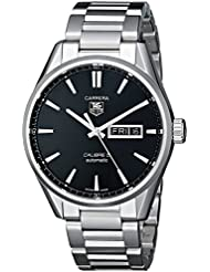 TAG Heuer Mens WAR201A.BA0723 Analog Display Automatic Self Wind Silver Watch