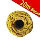 Plastic Rope Polypropylene 20MX4MM Adjustable Yello