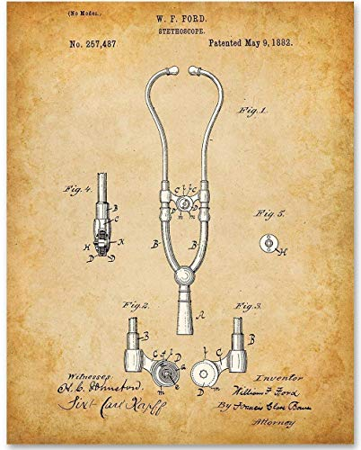1882 Stethoscope - 11x14 Unframed Patent Print - Makes a Great Gift For Nurse's Day!