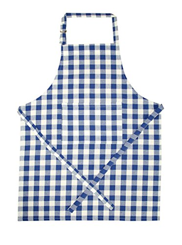 Didi's Kitchen Cotton Apron Checkered Blue & White