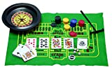 5 in 1 Casino Games Set Roulette ,Poker , Black Jack , Craps , has Chips ,Mats , Dices , Cards,