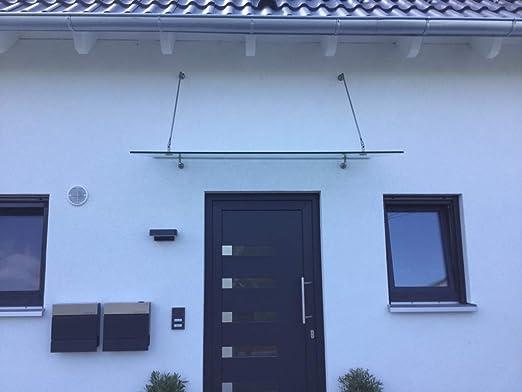 120 x 90 cm Glasvordach Milchglas Vordach T/ürvordach T/ürdach Haust/ür Satiniert Glas Edelstahl VSG