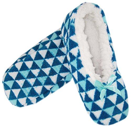 Lined Fleece Slipper Snowflake Socks Womens Sherpa 2pack Triangle Cozy qt7xvnzwn1
