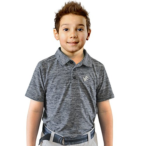 Jolt Gear Youth Boys Golf Dri Fit Polo Shirt, Breathable Performance Fit, Blue