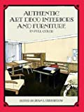 img - for Authentic Art Deco Interiors and Furniture in Full Color by Jean L. Drusedow (1997-11-21) book / textbook / text book